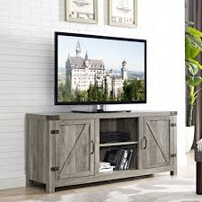 58 inch Barn Door TV Stand with Side Doors