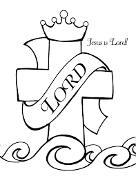 Printable Coloring Pages For Sunday School Jesus Is Lord Page
