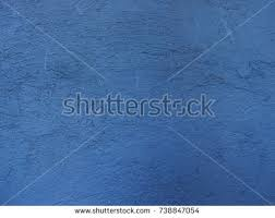 Blue Painted Plaster Wall Photo Background Old Cracks Texture With