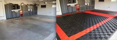 Racedeck Flooring Vs Epoxy by Racedeck Custom Garage Floors Montana Wyoming