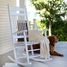 White rocking chair helps your infant to fall asleep Pickndecor