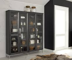 bathroom storage cabinet with glass doors decora