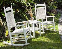 POLYWOOD® Woven Jefferson Outdoor Rocking Chair - The ... Polywood Pws11bl Jefferson 3pc Rocker Set Black Mahogany Patio Wrought Iron Rocking Chair Touch To Zoom Outdoor Cu Woven Traditional That Features A Comfortable Curved Seat K147fmatw Tigerwood With Frame Recycled Plastic Pws11wh White Outdoor Resin Rocking Chairs Youll Love In 2019 Wayfair Wooden All Weather Porch Rockers Vermont Woods Studios