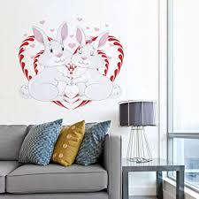 ylhjm liebevolle wandaufkleber kaninchen farbe wohnzimmer