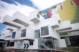 104 Shipping Container Design Kengo Kuma Stacks S To Create Drive Through Starbucks In Taiwan