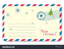 Template New Years Letter Santa Claus Stock Vector