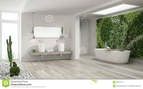 100 Minimalist Contemporary Interior Design White Bathroom With Vertical And Succulent Garden Wooden