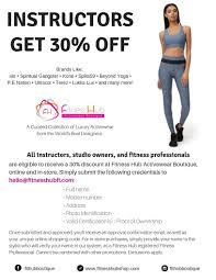Fitness Hub Activewear Boutique - 30% Off For Fitness ...