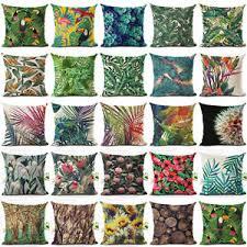 housses coussins canapé tropical feuilles housse de coussin taie d oreiller cushion cover