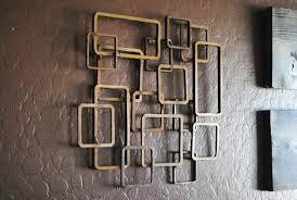 Retro Modern Metal Sculpture Art Abstract Mid Century