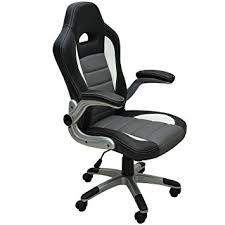 siege baquet de bureau chaise de bureau en pu siège fauteuil rembourrage épais hauteur