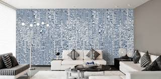 tapeten blau modernes design mowade
