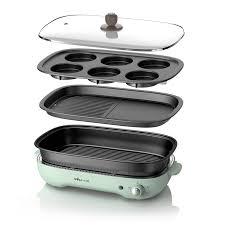 220v elektrische kochtopf haushalt multifunktionale elektrische eintopf kuchen bäcker ofen grill grill mit 3 platten
