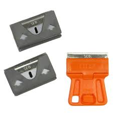 stanley 1 3 16 in high visibility mini razor blade scraper 28 100