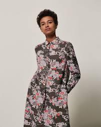 guan floral spun silk dress toast