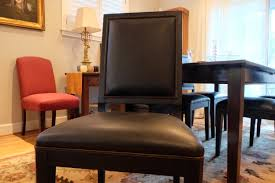 Sonata Dining Chairs From Crate & Barrel, Black Leather (6)