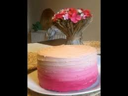 How To Ice An Ombre Cake Easy Method