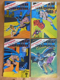 Vintage Batman Lot Of 4 Coloring Book From Argentina 1989