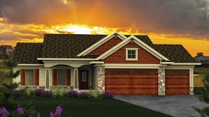 One Level House Plans With Basement Colors Ranch House Plans And Ranch Designs At Builderhouseplans Com