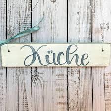 holzschild handbemalt türschild küche geschenk zur hauseinweihung einzug umzug shabby küchentür maritime deko für die küche edel