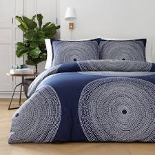 marimekko Fokus King Duvet Cover Set in Navy