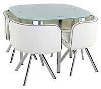 table de cuisine ronde en verre table de cuisine moderne table 4 chaises melo blanc meuble de