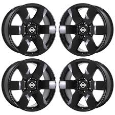 100 Rims Truck 20 FITS NISSAN ARMADA TITAN TRUCK BLACK WHEELS RIMS FACTORY OEM SET