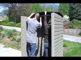 Rubbermaid 7x7 Gable Storage Shed by Rubbermaid Roughneck Shed Assembly Youtube