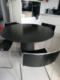 Black Round Dining /kitchen Table With High Gloss & Metal Chairs | In  Burbage, Leicestershire | Gumtree Designer Diamond Back Dinette Set Retro Kitchen Tables Commercial Tables Chairs Archives Alfa Dinettes Minimalist Modern Design Low Outdoor Metal Steel Bar Custom Solid Wood Table Tops Live Edge Slab Ding Room Kitchen Fniture Gardnerwhite Winsome Wood Obsidian 3piece Pub Table Still In Production After Nearly 70 Years Acme Chrome At Jordans Ma Nh Ri And Ct 57 Stainless And Hapihomes
