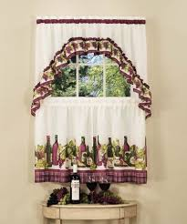 Achim Home Furnishings Chardonnay Tier And Swag Set 57 Inch By 36 Burgundy