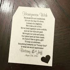 Check Out Honeymoon Fund Invitation Insert For Bridal Shower Or Wedding Honeyfund Wish Ideas CAN BE CUSTOMIZED On