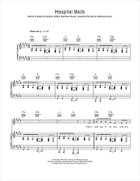 hospital beds sheet music by cold war kids piano vocal guitar