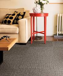Creative Floor Design With Carpet Tiles Playful Living Room