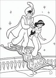 Jasmine And Aladdin Coloring Pages Free Disney