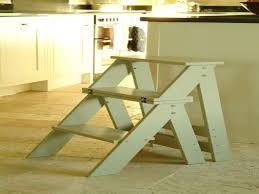 Wooden Step Kitchen Stool Folding Step Stool Chair How To ...