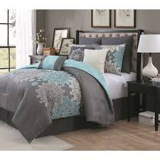 Blue And Grey forter Sets Brilliant Vcny Roman Stripe 7 Piece