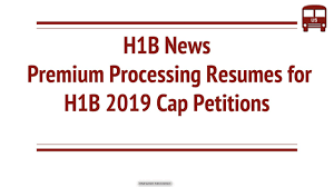 USCIS News: Premium Processing Resumes For H1B 2019 Cap ... New H1b Sponsoring Desi Consultancies In The United States Recruiters Cant Ignore This Professionally Written Resume Uscis Rumes Premium Processing For All H1b Petions To Capsubject Rumes Certain Capexempt Usa Tv9 Us Premium Processing Of Visas Techgig 2017 Visa Requirements Fast In After 5month Halt Good News It Cos All H1