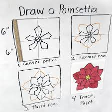 How to Draw a Poinsettia Dibujos kawaii