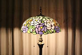 Tiffany Style Lamp Shades by Tiffany Style Blooming Pink And Purple Roses Stained Glass Floor
