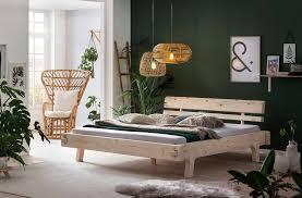 salesfever holzbett aus massivholz fichte balkenbett in uriger optik futonbett im landhaus stil massivholzbett kaufen otto