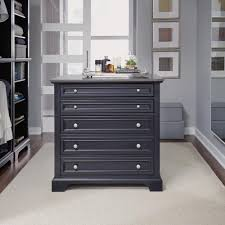 home styles bedford 5 drawer black closet island 5531 92 the