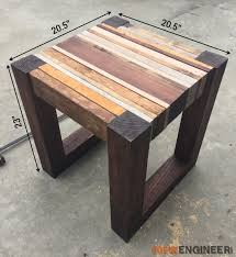 free end table plans friendly woodworking projects