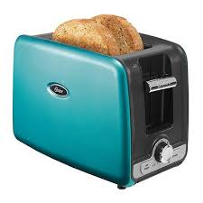 Turquoise Oster 2 Slice Toaster With Retractable Cord