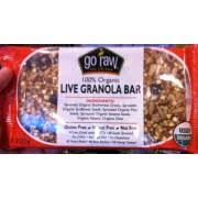 Go Raw Sprouted Pumpkin Seeds Bar by Go Raw Granola Bar Live Sprouted Calories Nutrition Analysis
