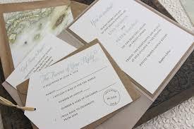 Rustic Palm Tree Wedding Invitation Printed Pocket Fold