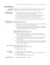 Business Administration Resume Template Objective For Administrative Office Assistant Example