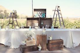 Head Wedding Table Rustic Decorating Ideas Brown Bunny Flowers May