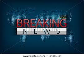 Breaking News Live On World Map Background Isolated Vector Illustration Emergency Latest Communication