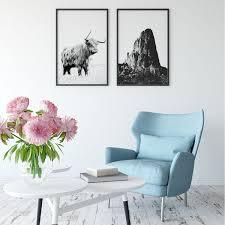 modernes schwarz weiß poster set malango home