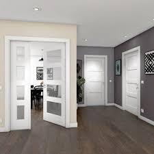 puerta maciza abatible ciega con acabado lacado color blanco